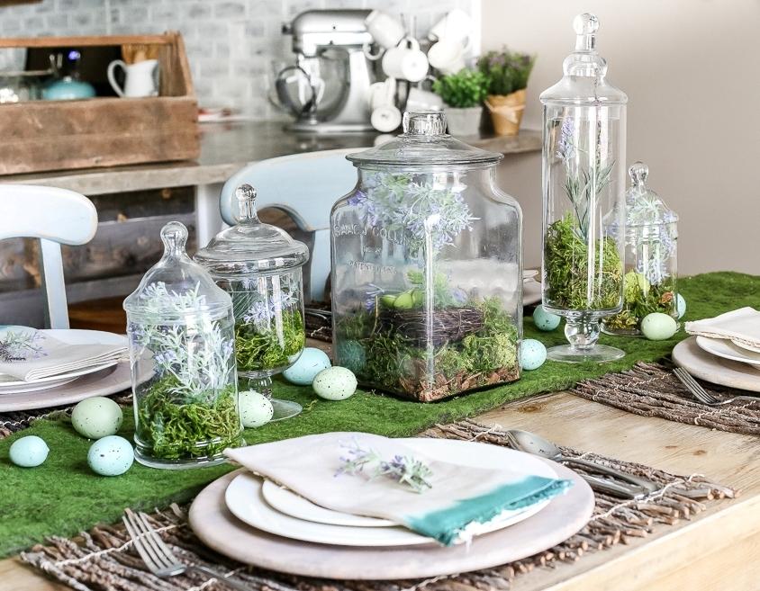 Декор пасхального стола — 25 фото украшений из природных материалов