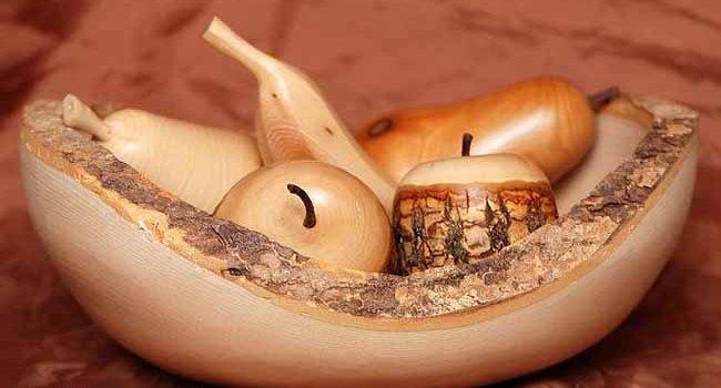Деревянная ваза в прованском стиле