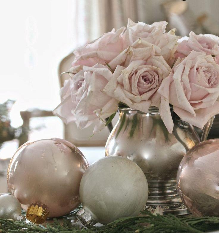 Цветочные композиции новогоднего Прованса