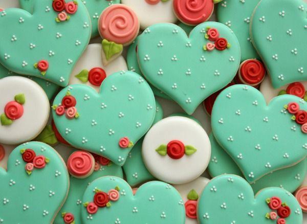 Расписные пряники ко дню влюбленных - 20 фото праздничных сладостей
