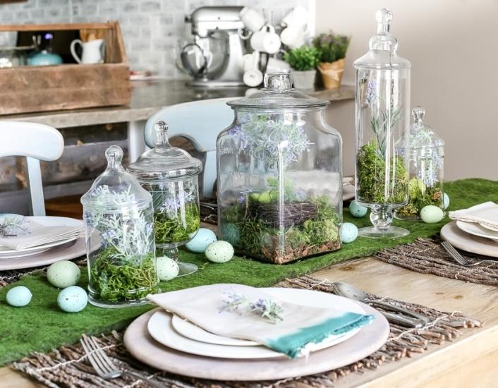 Декор пасхального стола - 25 фото украшений из природных материалов