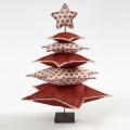 Красная новогодняя елка из ткани – поделка своими руками | Дизайн в стиле Прованс - французский стиль кантри в вашем доме