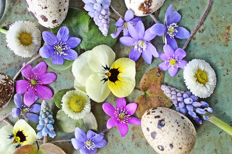 Весенние цветы к пасхе - 30 фото в стиле Прованс