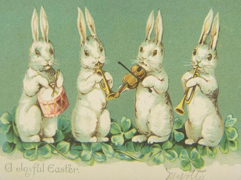 Старинные пасхальные открытки — 30 фото в винтажном стиле