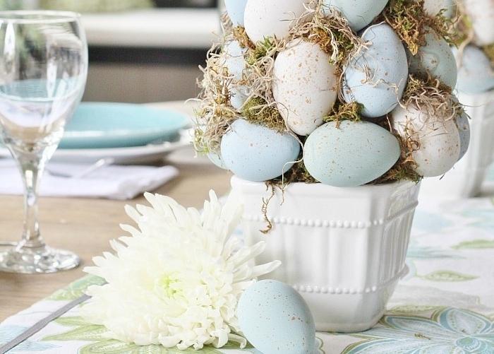 Пасхальное дерево-топиарий из яиц: мастер-класс