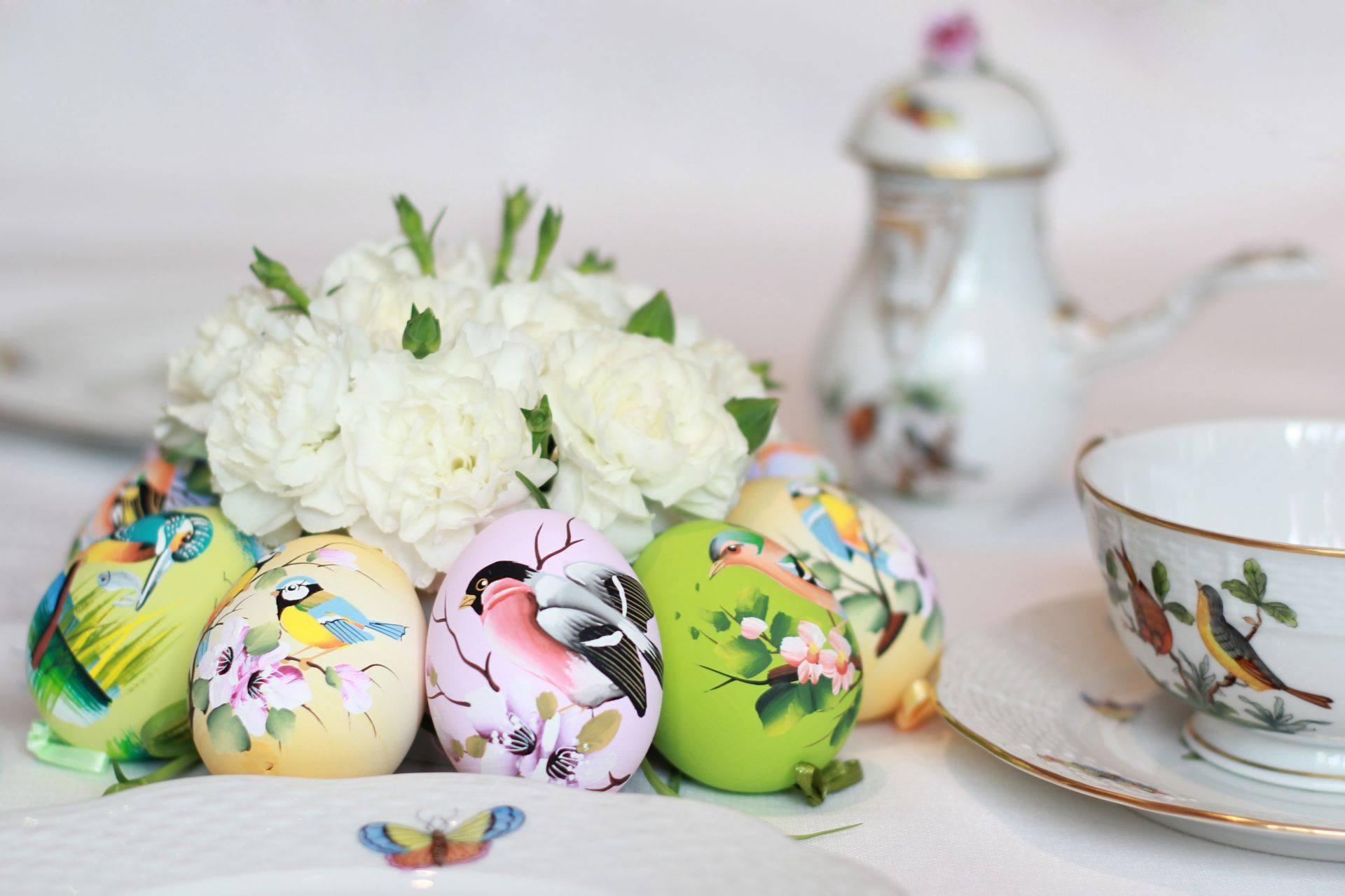 Пасхальные яйца в стиле Прованс
