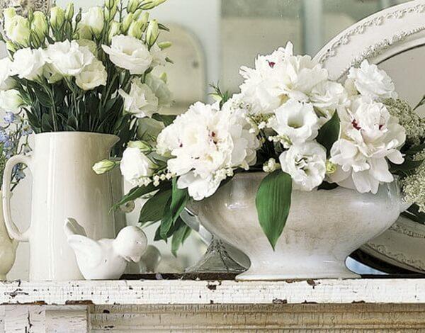 Белые вазы Прованс в интерьере фото