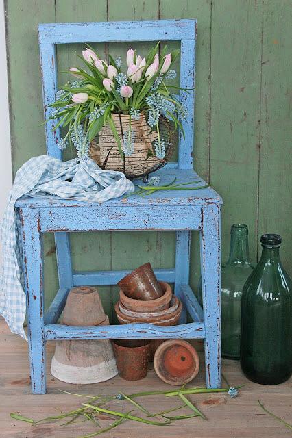 Плетеная из металлической проволоки декоративная ваза Прованс