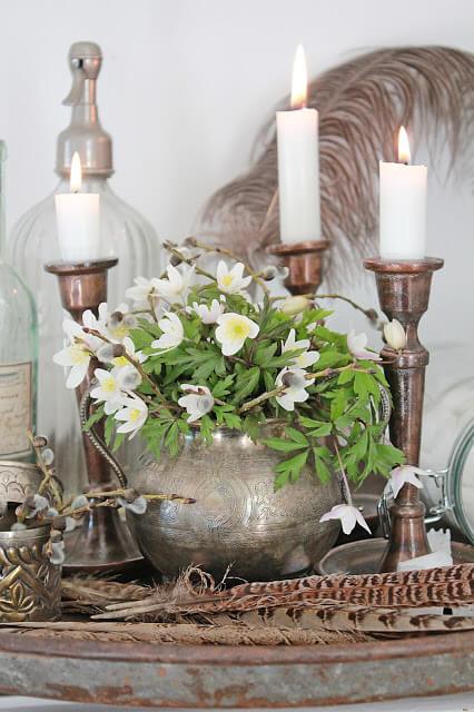 Декоративные вазы Прованс из металла