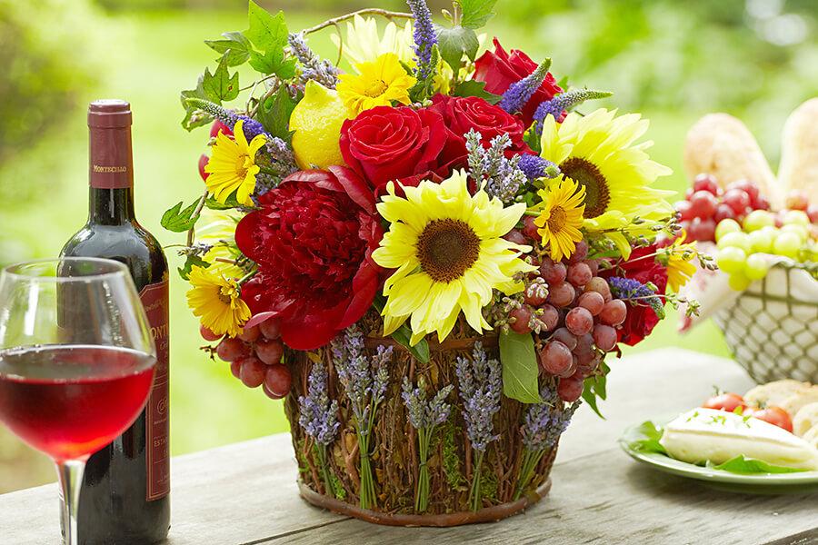 Плетеные вазы в стиле Прованс с веточками  лаванды