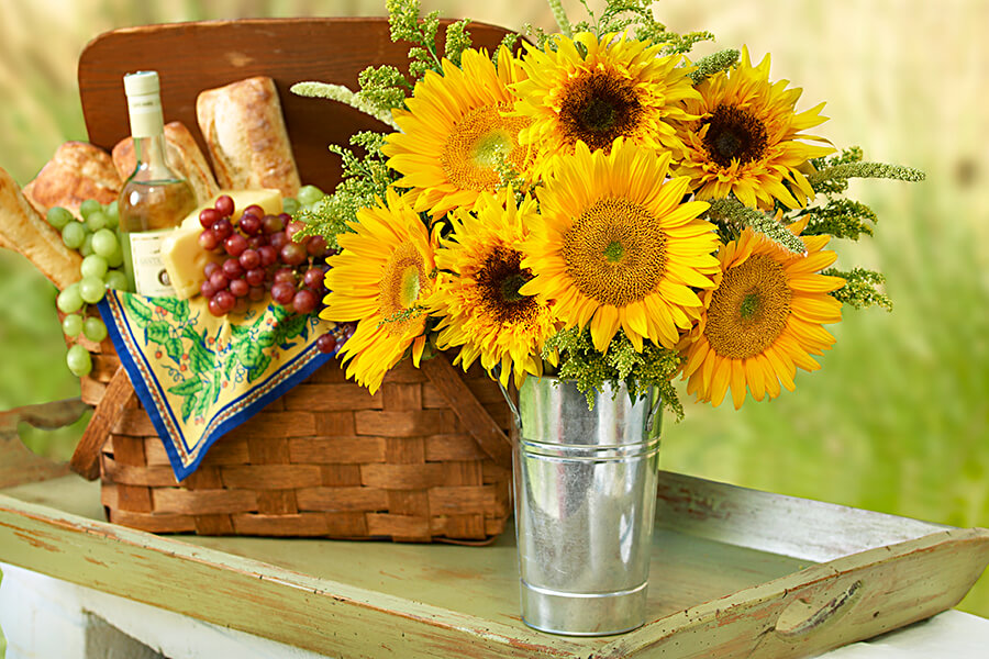 Декоративная ваза Прованс для цветов в виде жестяного ведерка